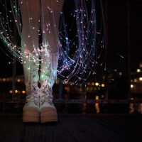 The Jellyfish Inspired Fiber Optic Dress  by Natalie Walsh. Photographed by Audrey Love