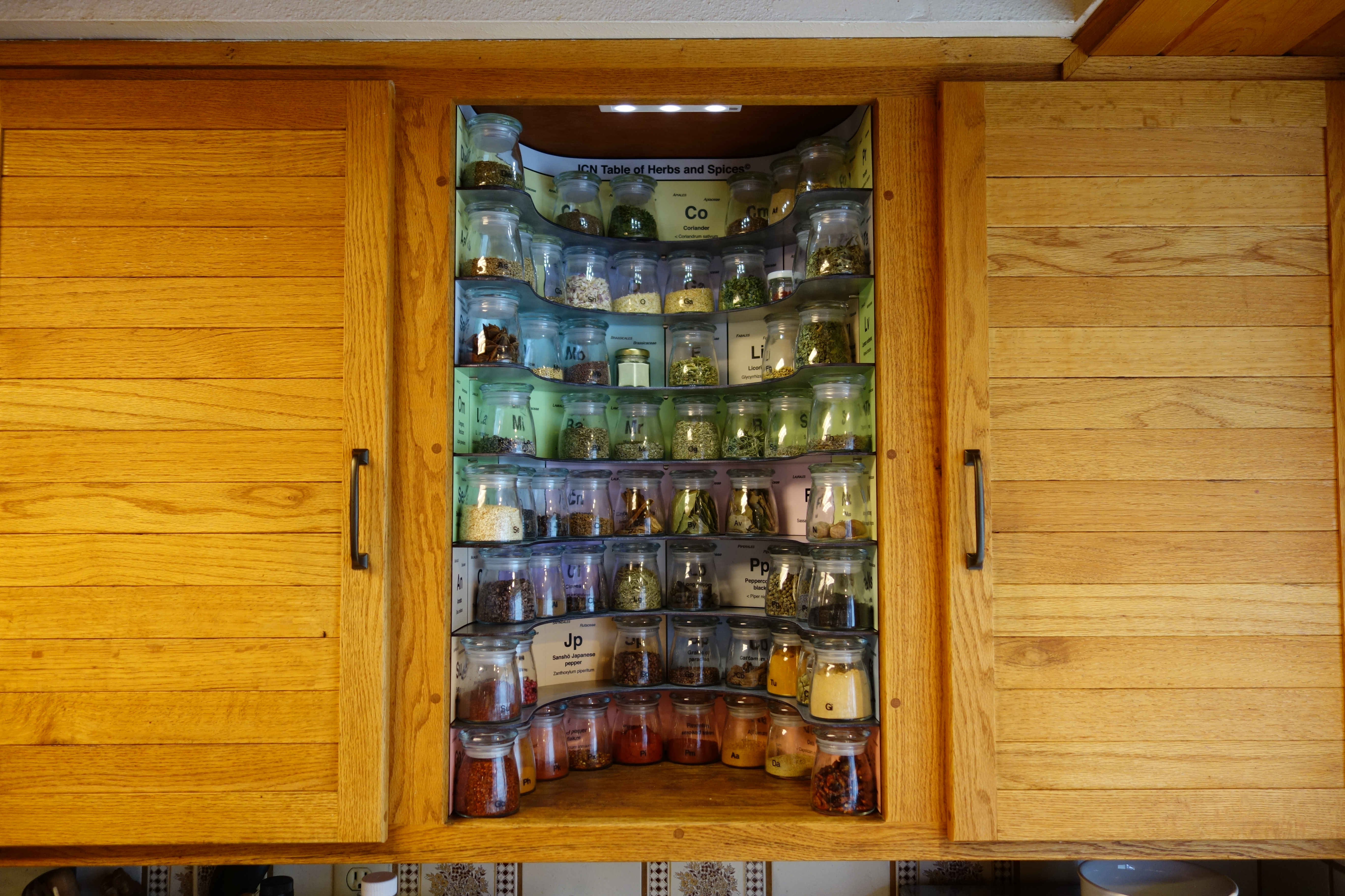 Doorless Kitchen Cabinets Kitchen Geeks Build This Periodic Table Of Spices Rack Make