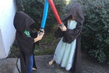 Pool Noodle Lightsaber for Full-Contact Jedi Battles