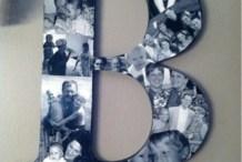 Monogram Photo Collage