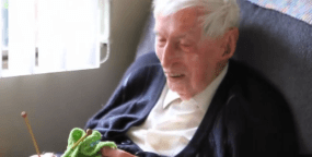 Oldest Man in Australia Still Knitting at 109!