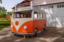 Happy Camper: Dad Builds Toddler a VW Bus Bed