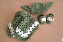 Baby's First Crocheted Yoda Outfit