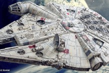 "Illuminated 38"" Paper Millennium Falcon Took 4 Years to Build"