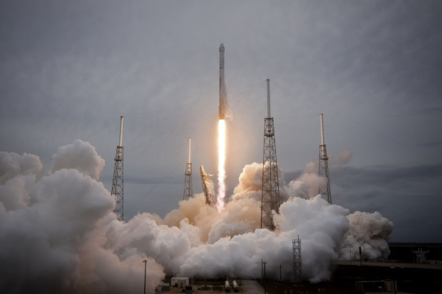 The original Kicksat was launched aboard the SpaceX CRS-3 resupply flight to the ISS. (Credit: SpaceX)