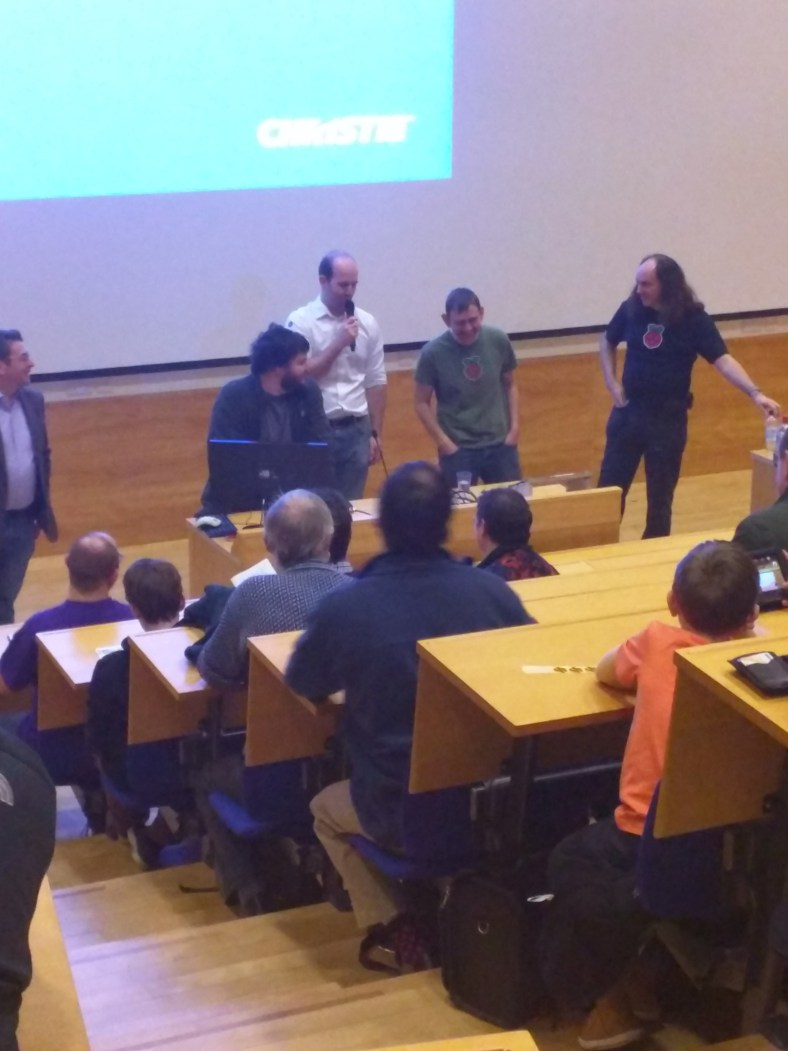 The Raspberry PI technical team took questions from the audience.