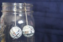 Party On With These DIY Mirror Ball Earrings