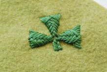 Stitch It: Embroidered Sprat's Head Shamrocks