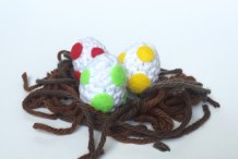 DIY Crocheted Yoshi Eggs