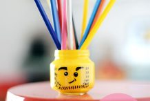 Lego Man Pencil Holder
