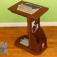 A handmade cardboard Attack on Titan C-table design
