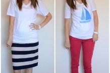 Sewing Hacks: Sizing Down a T-Shirt