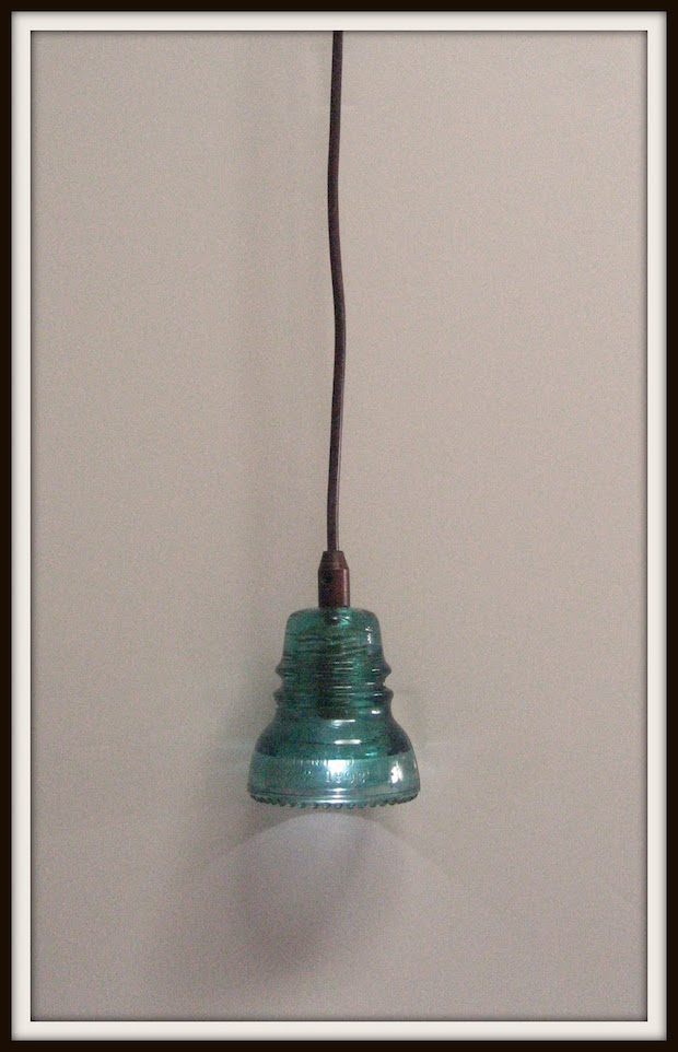 glass from the past make a lamp with vintage power line insulators make. Black Bedroom Furniture Sets. Home Design Ideas