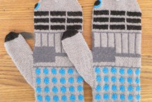 Exterminate the Chill: Knit Doctor Who-Inspired Dalek Mittens