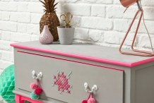Sew Kitschy, Sew Cool: How to Cross-Stitch Furniture