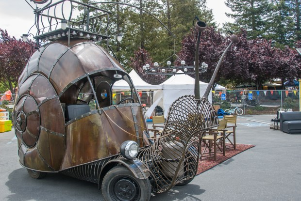 Golden Mean Snail Art Car by Jon Sarriugarte and Kyrsten Mate
