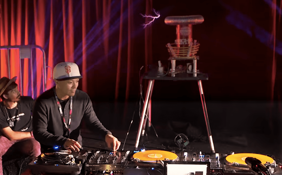 Watch a DJ Control a Tesla Coil With His Turntable