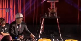 DJ Qbert Scratches Tesla Coil-HP