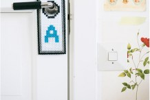 Kid Crafts: Perler Bead Doorknob Signs
