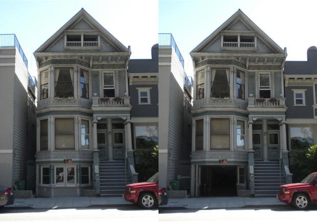 Hidden Garage Door by BeausoleilArchitects — via Beausoleil Architects
