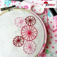 Embroidery Basics: Pinwheel Stitch