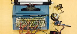 48 Solenoids Transform This 1960s Typewriter into a Computer Printer