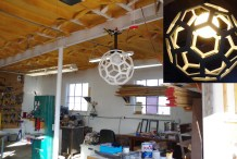 Check Out This Icosahedron Shop Lamp