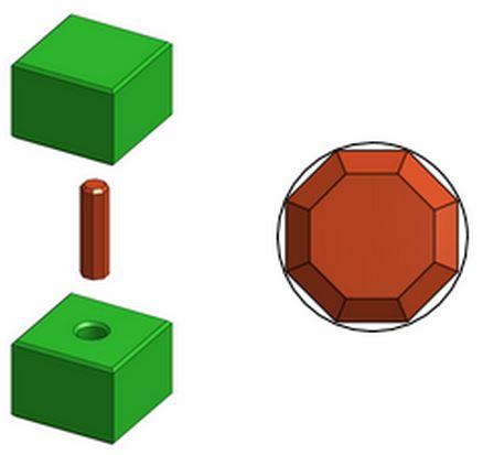 Polygon Pin / Round Hole Press-Fit Design