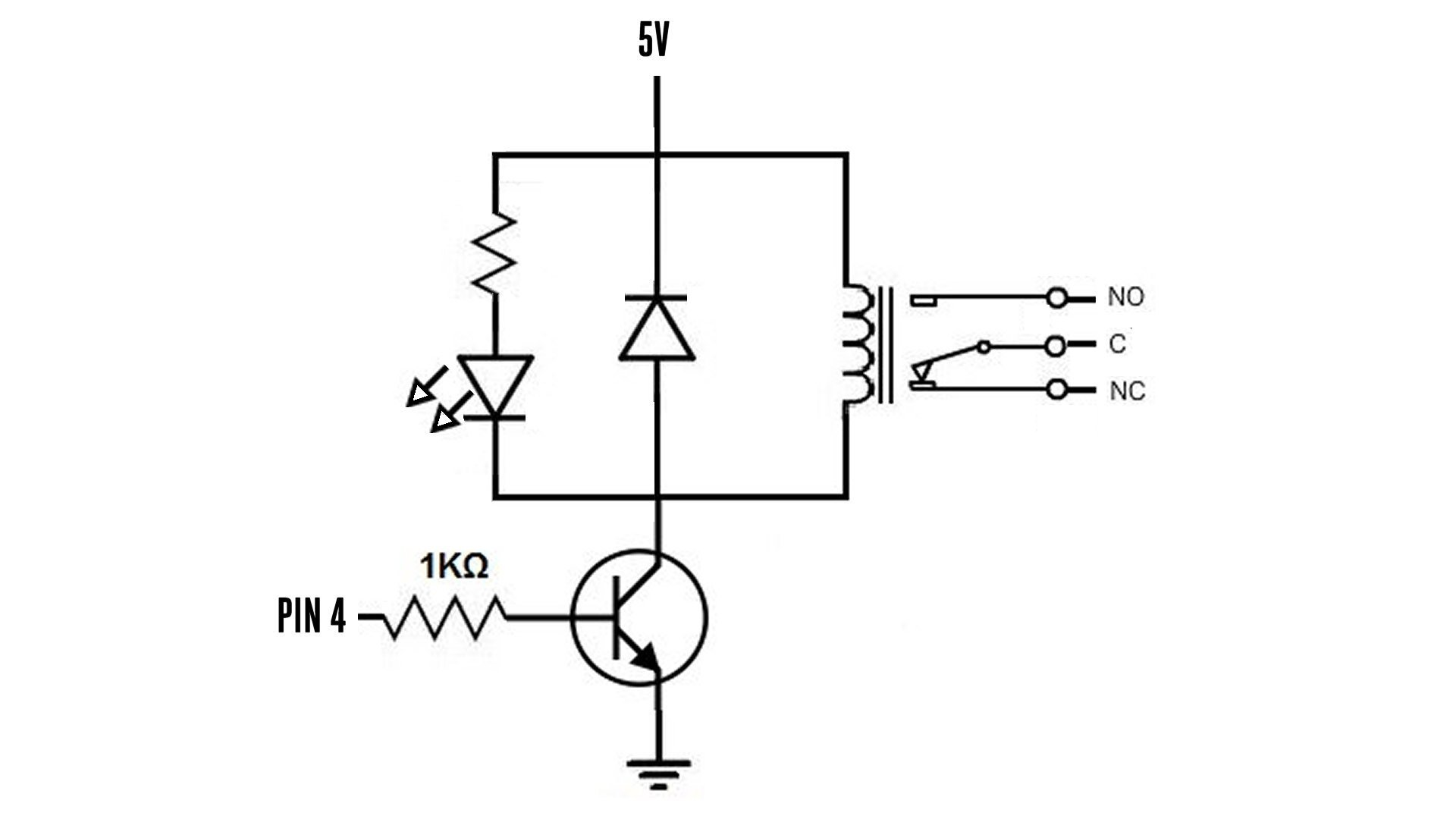 basic relay driver circuit