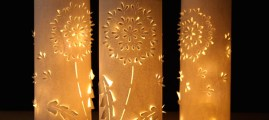 Make a Set of DIY Paper Dandelion Lanterns