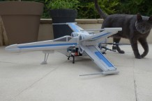 Impressive Star Wars X-Wing Foam Drone