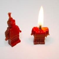 lego minifig candle