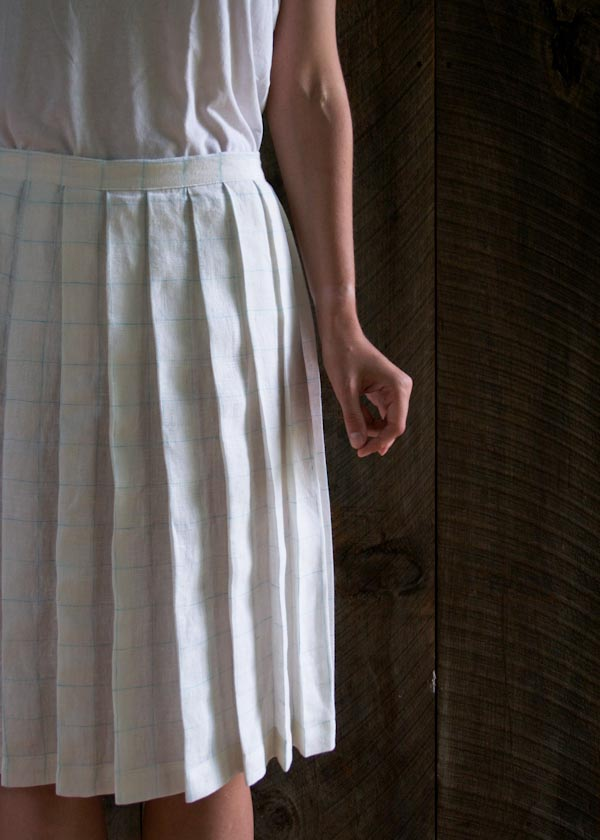 back to school fashion sew a pleated linen skirt make