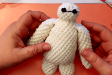 This Impressive 3D Crochet Baymax Was Made With a Rainbow Loom