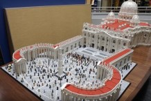 Upon This Brick... Details of the Lego Vatican Build