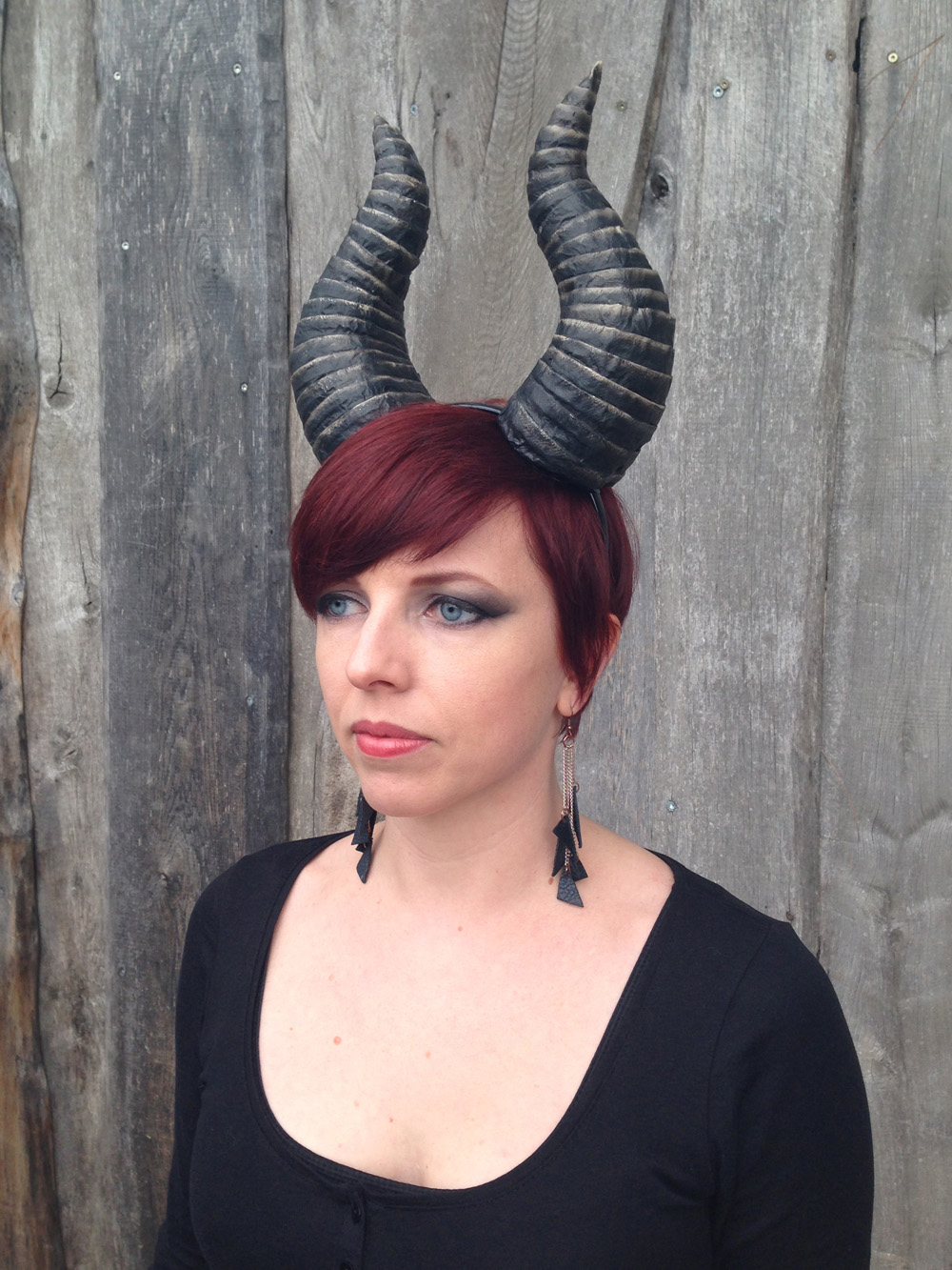 Sculpt Demon Horns from Foam and Paper Towels | Make: