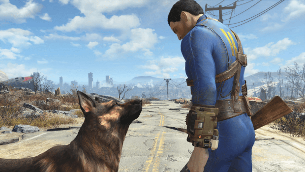 Sit, Dogmeat, sit. Good dog.