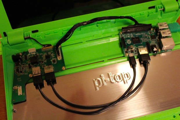 Attaching the Pi to the Hub board.