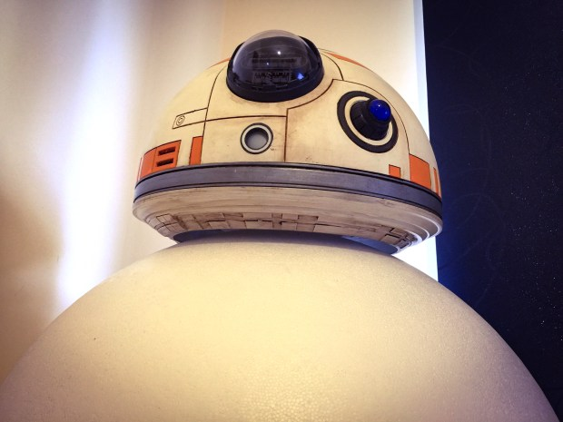 BB-8 head on foam