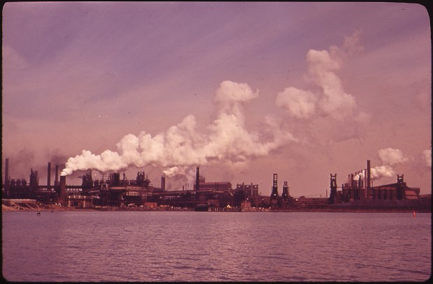 Bethlehem Steel Plant at Sparrows Point, Baltimore, circa January, 1970. Photo by Jim Pickerell via Wikimedia Commons.