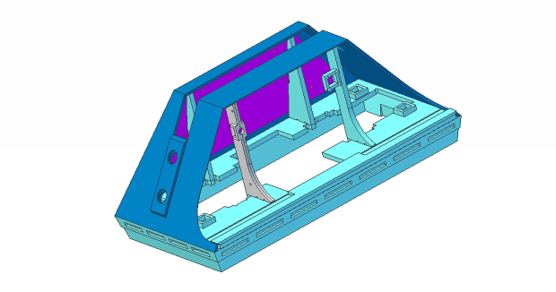 CAD drawing of the Foot Shell.