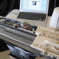 Hacked-knitting-machine