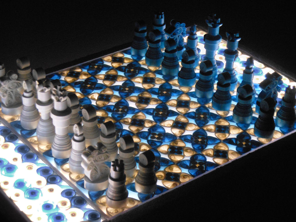 Chess Wallpaper 3d Making A Quilled Paper Chess Set With Light Up Board Make