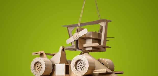 Upgrade your cardboard car with downloadable templates hidden macosh designs latest creation are life size toys for kids made entirely out of cardboard maxwellsz