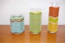 Missoni-Style Vase Cozies