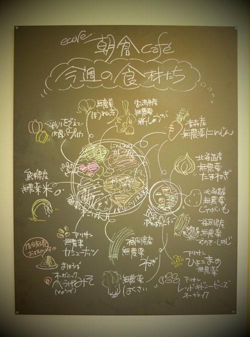 朝倉カフェの食材