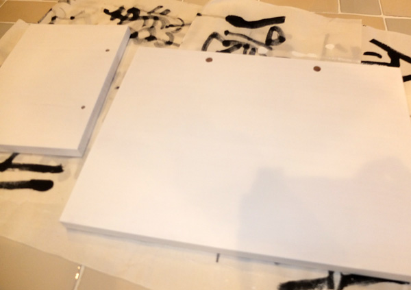 白い塗料で塗装