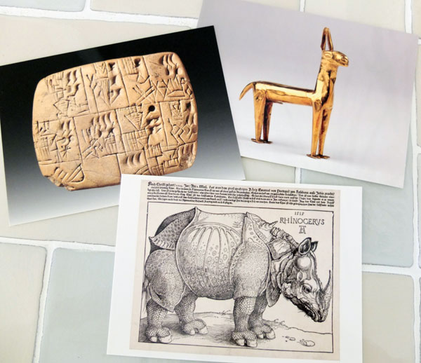 大英博物館のポストカード