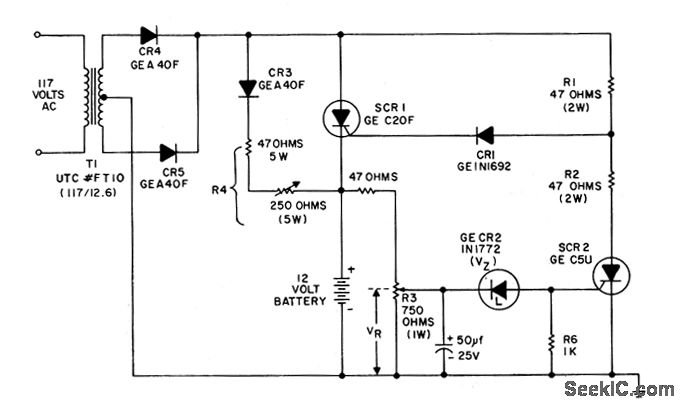 12v battery charger using ujt