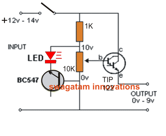 circuit projects simplest variable bench power supply circuit